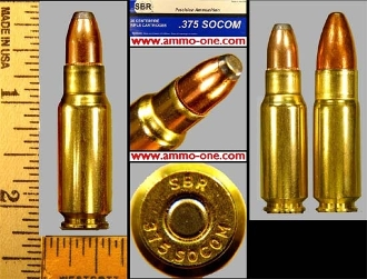.375 SOCOM, Pistol, Rifle, One Cartridge