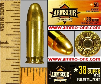 .38 Super, by Armsor USA, One Box of 50 Cartridges.