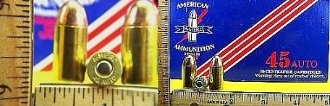 .45 Auto, American A. Company, FMJ, One Cartridge