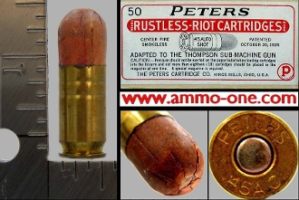 .45 Auto, Peters Riot Shot-Shell, One Cartridge
