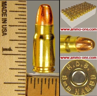 8mm Japanese Nambu, Box of 50 cartridges
