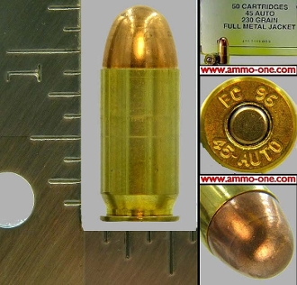 .45 Auto, Military, Federal, 1996, One Cartridge