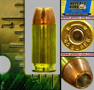 .45 Super by Buffalo Bore, JHP, One Cartridge not a Box!