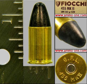 .455 Webley Mark II Revolver by Fiocchi, Box of 50 cartridges