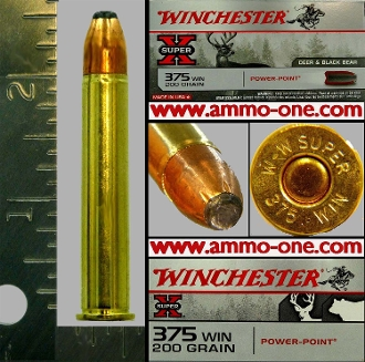 .375 Winchester by Winchester 200gr JSP, 1 Cartridge, not a Box
