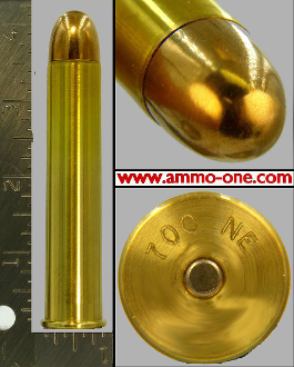 .700 Nitro Express, LIVE! 1,000 grain FMJ, One Cartridge LIVE