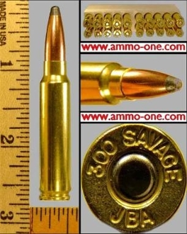.300 Savage, New production, JSP, Boxes of 20 Cartridges