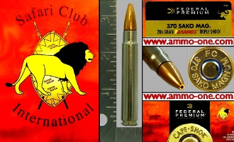 ".370 SAKO Magnum by Federal ""PREMIUM"", Box of 20 Cartridges"