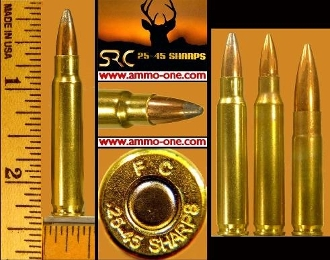 .25-45 Sharps by Sharps Rifle Co., One Cartridge , not a box