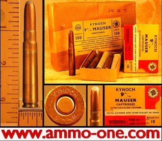 OUT of STOCK, 9x57mm Mauser by Kynoch, box of 10