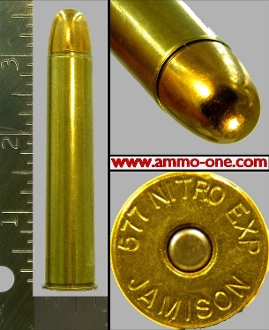 ".577 Nitro Express 3"", ""JAMISON"" H/S, 750 Solid, One Cartridge"