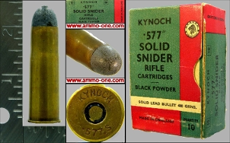 .577 Snider, B/P, Early Kynoch, One Cartridge , not a Box!