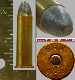 .50-70, D.C.W. Long Seated Lead Bullet, 1 Cartridge, not a box