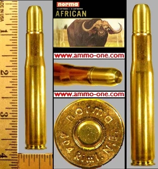 ".404 Jeffery ""NEW"" by Norma of Sweden, One Cartridge not a Box!"