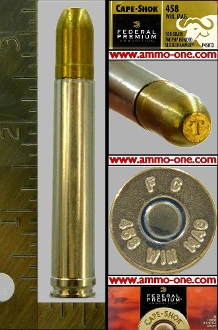 .458 Win. Mag by Federal, 1 cartridge not a Box, no returns**