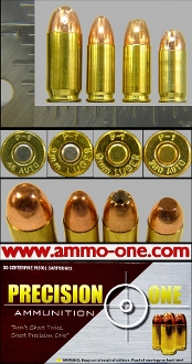 "Precision ONe ""P-1"" 45 ACP, 9mm Luger, 380 Auto, 4 Assortment"