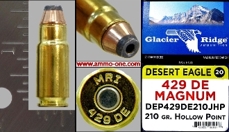 .429 DE Magnum by Magnum Research, 1 Cartridge not a Box