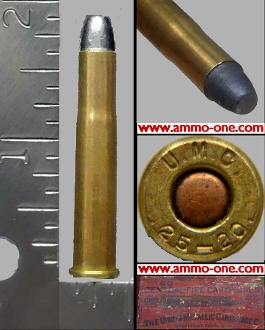 .25-20 SINGLE SHOT by U.M.C., One Cartridge not a Box