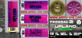 12 Ga #B, Federal Plastic Upland 6 Shot, One Cartridge not a Box