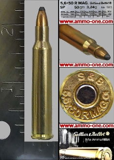 5.6x50Rmm Magnum (Rimmed), One Cartridge Not A Box!