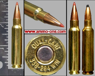 .338-224 Win., .338-284 Canadian KCG, 1 Cartridge, Not a Box!