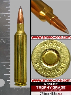 .27 Nosler by Nolser, New for 2020, One Cartridge, Not a Box.