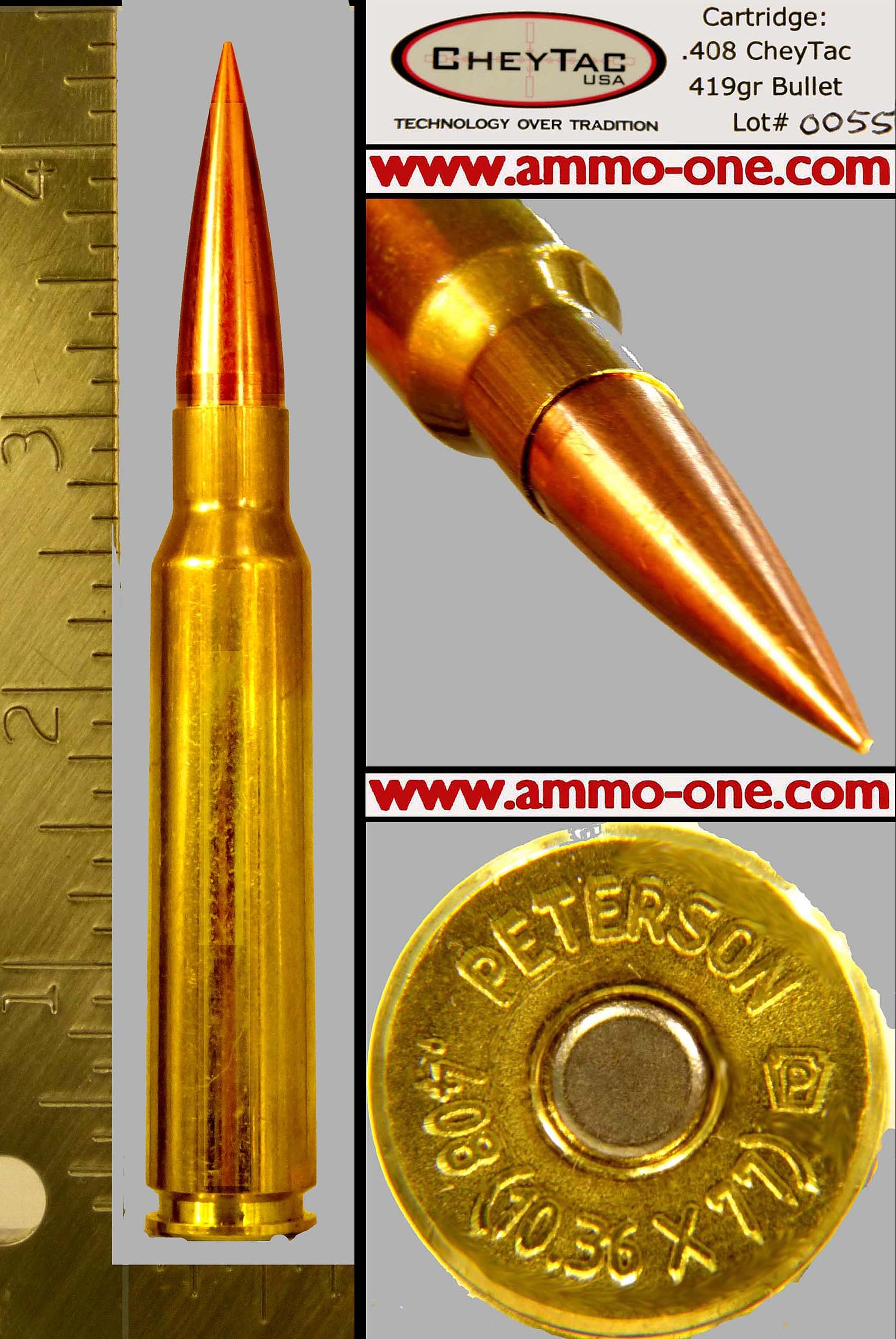 408 CheyTac Chey Tac ammo ammunition for sale Peterson