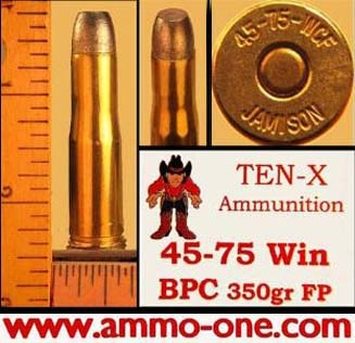 .45-75 Winchester by Ten-X, Lead, One Cartridge. not a Box !