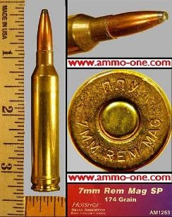 7mm Remington Magnum, Hotshot,Brass Case, JSP, Boxes of 20